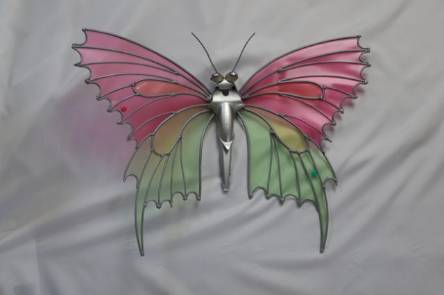 recycled sculpture scrap art green eco recycledart junk rubbish butterfly